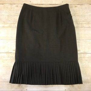 Alfani Wool Ruffle Pleat Detail Professional Skirt